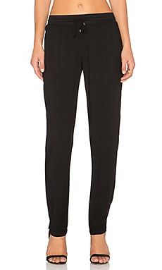 three dots Classic Knit Pant in Black