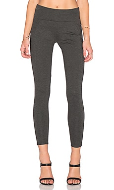 three dots Foldover Legging in Charcoal