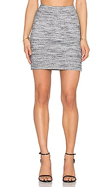 three dots Mackenzie Mini Skirt in Granite