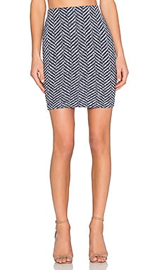 three dots Gretchen Mini Skirt in Night Iris
