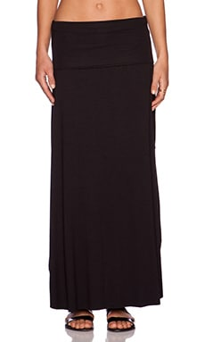 three dots Maxi Skirt in Black
