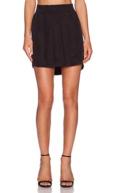 three dots Mini Skirt in Black