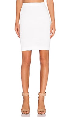 three dots Pencil Skirt in White