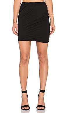 three dots Twisted Skirt in Black