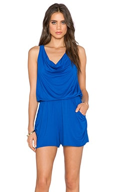 three dots Sun Romper in Surf Blue