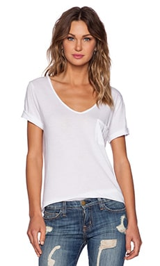 three dots Pocket Tee in White