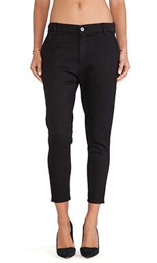 thvm Black Zip Trouser in Night