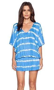 Tiare Hawaii Jimbaran Dress in Blue & White Stripe