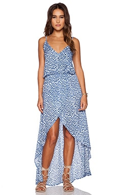 Tiare Hawaii Boardwalk Dress in Blue Cairo Print