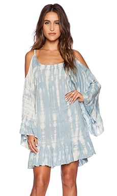 Tiare Hawaii Hana Dress in Grey Smoke Tie Dye