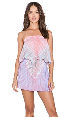 Tiare Hawaii Raindance Mini Dress in Pink, Teal & Violet Vibe