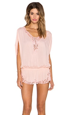 Tiare Hawaii Harlem Mini Dress in Peach