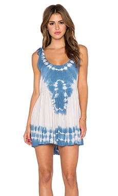 Tiare Hawaii Pahoa Mini Dress in Navy Tie Dye