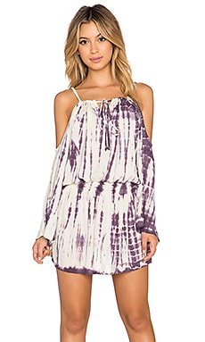 Tiare Hawaii Kauai Dress in Cream Violet Sabia