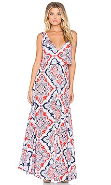 Tiare Hawaii Desert Island Maxi Dress in Red & Navy