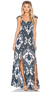 Tiare Hawaii Hollie Maxi Dress in Black Navy Java