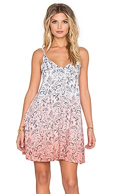 Tiare Hawaii Blondie Dress in Paisley Grey & Coral