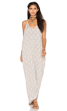 Tiare Hawaii Kalapana Maxi Dress in Lotus Peach & Blue