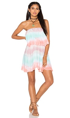 Tiare Hawaii Ocean Dress in Skin & Teal & Peach