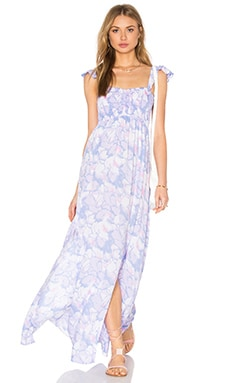 Tiare Hawaii Hollie Maxi Dress in Waterlily Pink & Purple