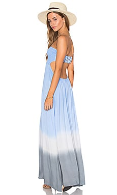 Kai Strapless Maxi Dress in Sky Cream & Grey Gradasi