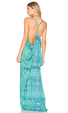 Kalapana Maxi Dress en Leo Teal Stone