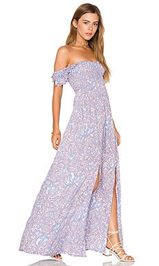 Hollie Maxi Dress in Stained Negative Mauve Blue