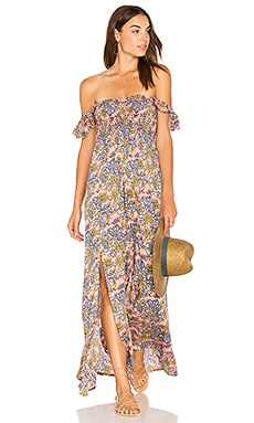 Hollie Off The Shoulder Maxi in Folk Salmon