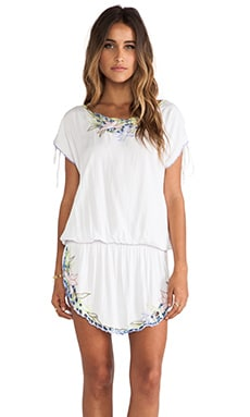 Tiare Hawaii Orchid Tunic Dress in White