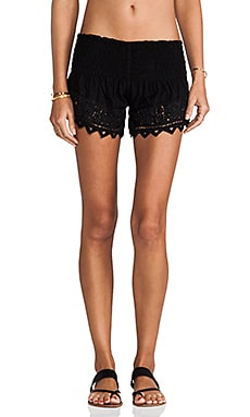 Eyelet 2 Shorts in Black