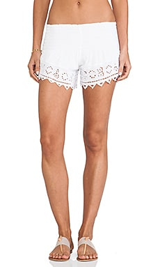 Eyelet 2 Shorts in White