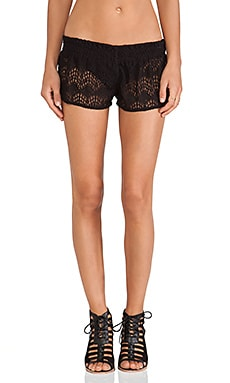Tiare Hawaii Lace Shorts in Black