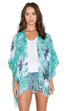 Tiare Hawaii Pom Pom Kimono in Tesca, Grey & White Splash