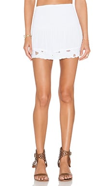 Tiare Hawaii Eyelet Skirt in White