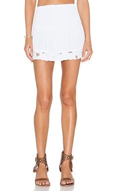 Tiare Hawaii Eyelet Skirt in White