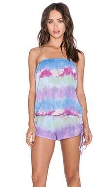 Tiare Hawaii Shanghai Romper in Sky, Blue & Purple Island