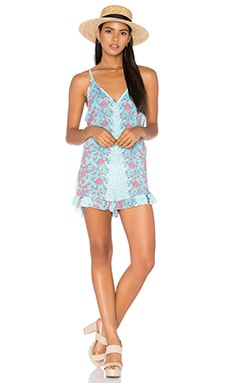 Tiare Hawaii Peacock Romper in Midnight Garden Teal