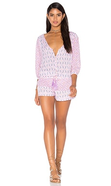 Under A Spell Romper in Pink Beach Glass