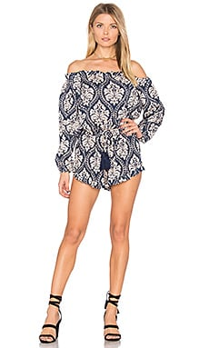 Montana Romper in Demask Navy & Cream