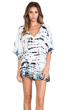 Tiare Hawaii Jimbaran Shirt in Black & White Sabia Tie Dye