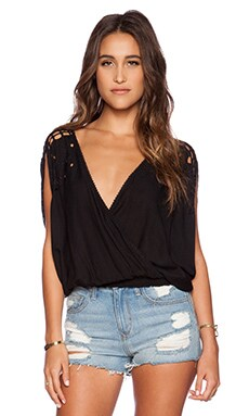 Tiare Hawaii Krawang Top in Black