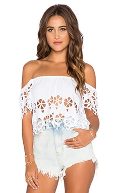 Tiare Hawaii Gili Crop Top in White