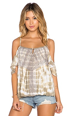 Tiare Hawaii Somerset Top in Beige Tie Dye