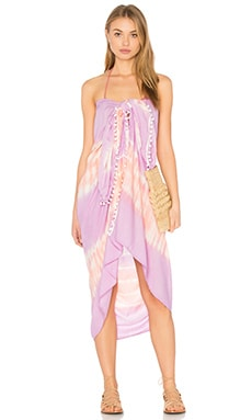 Tiare Hawaii Pom Pom Sarong in Moda Pink & Purple