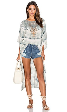 Tiare Hawaii Madagascar Cover Up in Grey & Cream Tie Dye