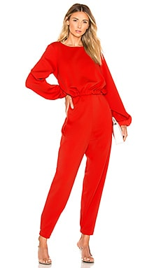 Ruched Front Tie Jumpsuit Tibi $550 NEW ARRIVAL