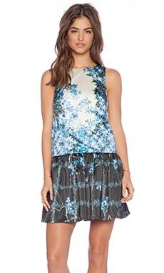 Tibi Sidewalk Floral Dress in Sapphire Multi