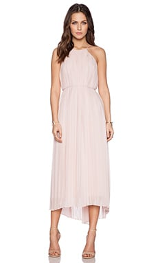Tibi Simone Midi Dress in Zen Blush