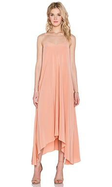 Tibi Strappy Hankerchief Dress in Momo Peach