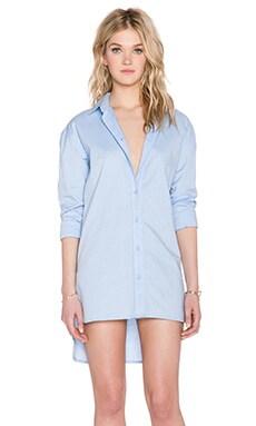 Tibi Essential Shirt Dress in Light Blue